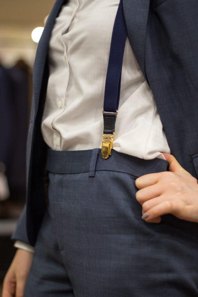 シグネチャー 嶌野 スタイリング 着こなし  女性のサスペンダー