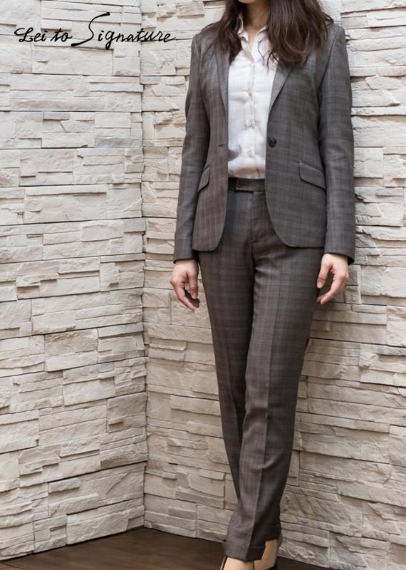 チェック柄 スーツ