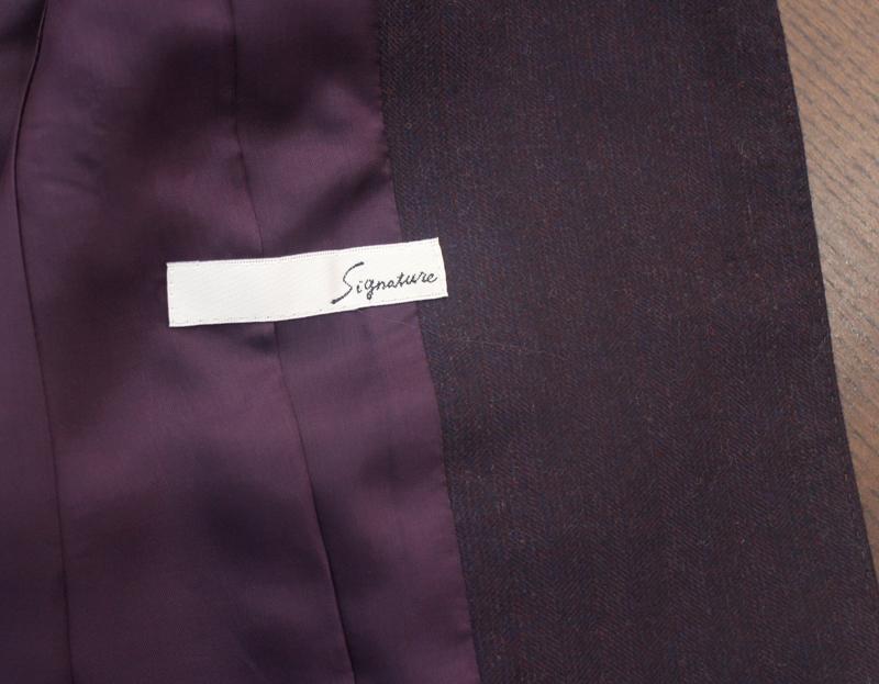 パープル スーツ