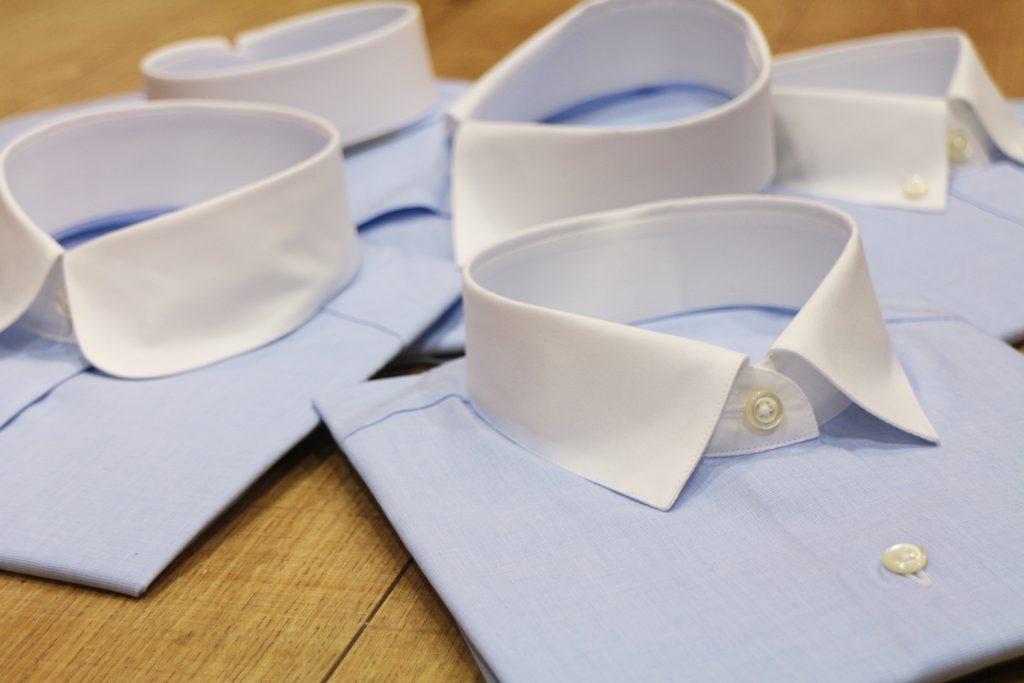 オーダーシャツの衿型